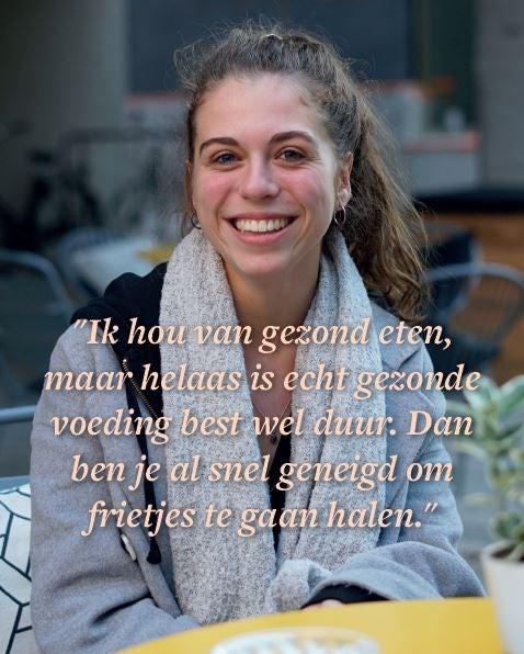 Resultaten Het Grote Antwerpse Studentenonderzoek voeding
