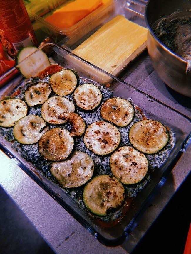Groenterestjes-lasagne