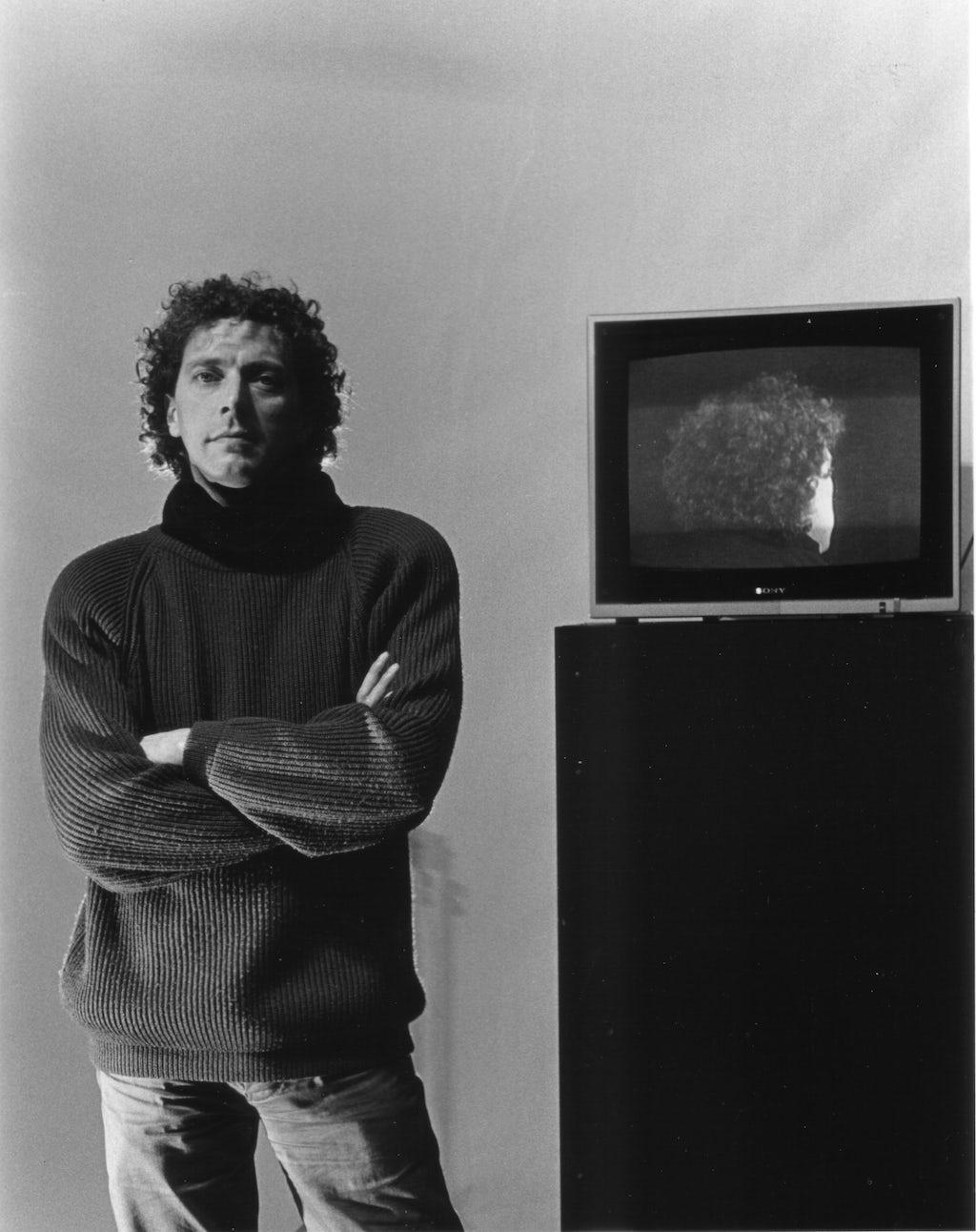 Hugo Roelandt, Zelfportret met monitor, 1992
