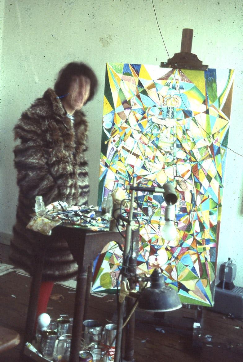 Frans Van Roosmaelen in zijn atelier in de Coppenolstraat in Antwerpen.